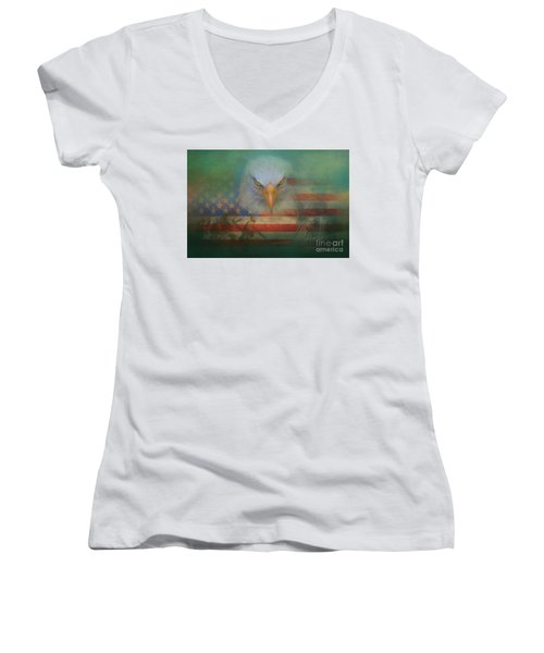 America The Great Women's V-Neck (Athletic Fit)