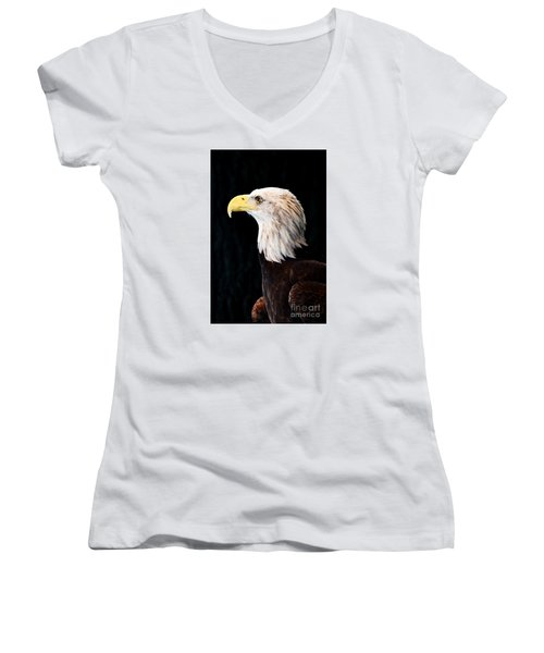 American Bald Eagle Women's V-Neck