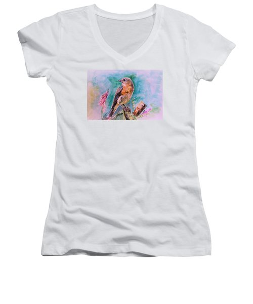 American Blue Bird Women's V-Neck T-Shirt