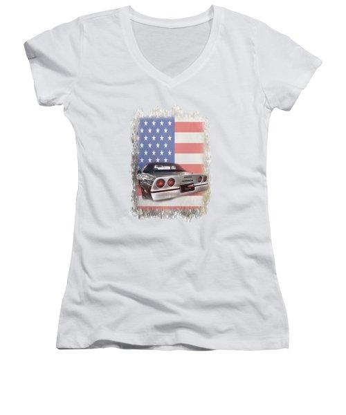 American Dream Machine Women's V-Neck T-Shirt