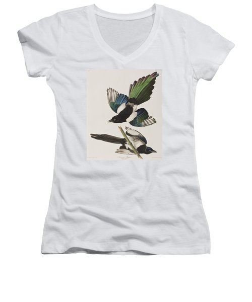 American Magpie Women's V-Neck T-Shirt