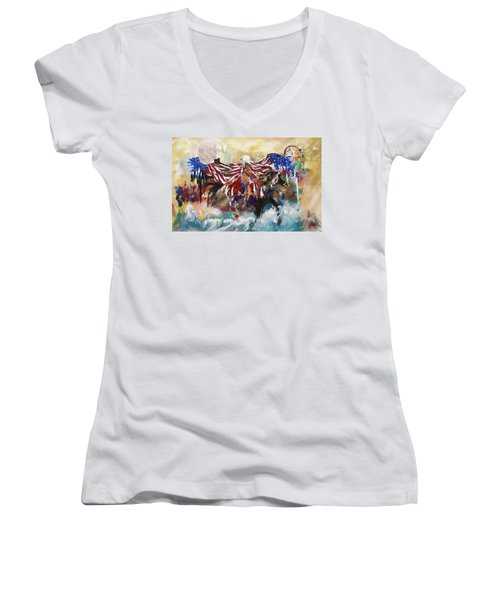 American Pride Women's V-Neck (Athletic Fit)