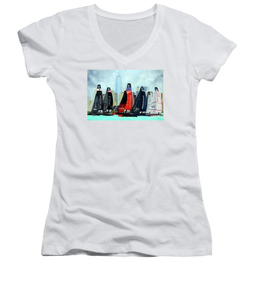 America's Cup New York City Women's V-Neck T-Shirt