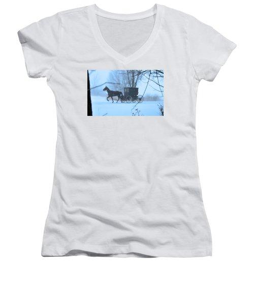 Amish Dreamscape Women's V-Neck T-Shirt