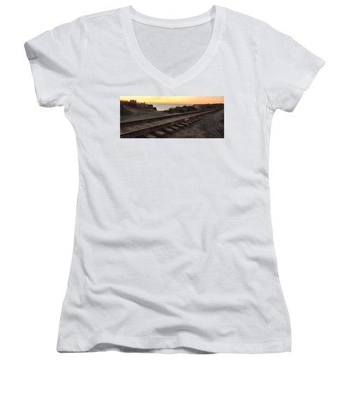 Amtrak On The Pacific Women's V-Neck