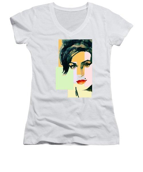 Amy... Love Women's V-Neck T-Shirt (Junior Cut) by Laur Iduc