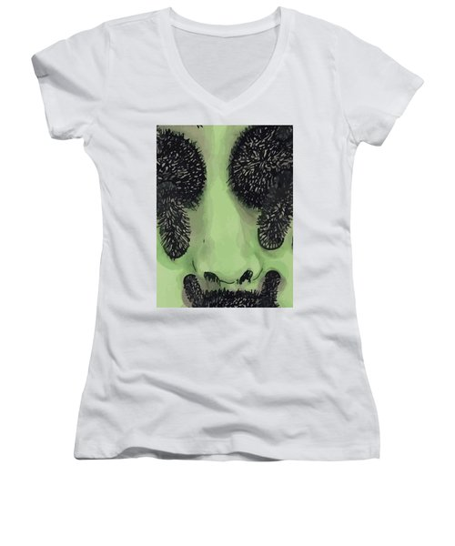 An Alien  Women's V-Neck T-Shirt
