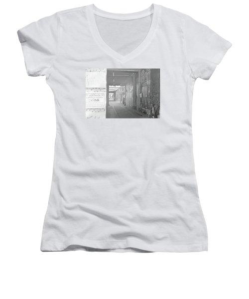 An Alley To A Backstreet Women's V-Neck (Athletic Fit)