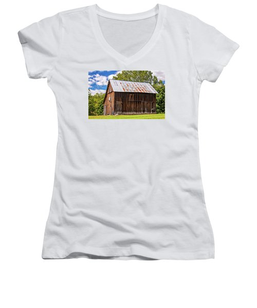 An American Barn 2 Women's V-Neck (Athletic Fit)