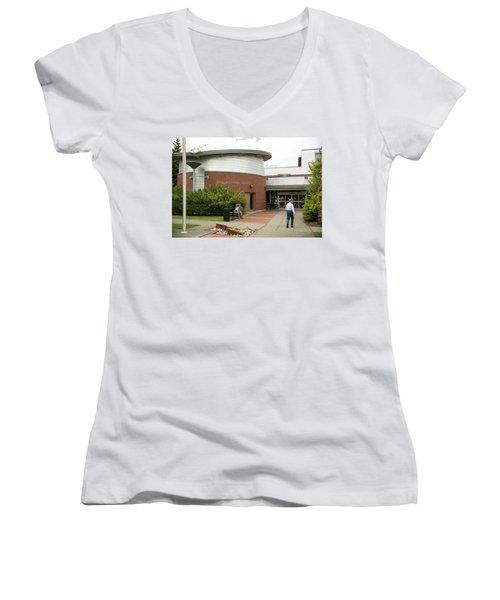 Anacortes Public Library Women's V-Neck (Athletic Fit)