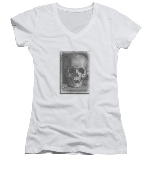 Ancient Skull Tee Women's V-Neck (Athletic Fit)