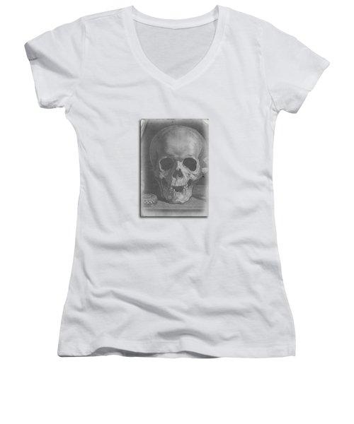 Ancient Skull Tee Women's V-Neck