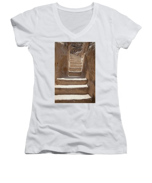 Ancient Stairs Women's V-Neck T-Shirt