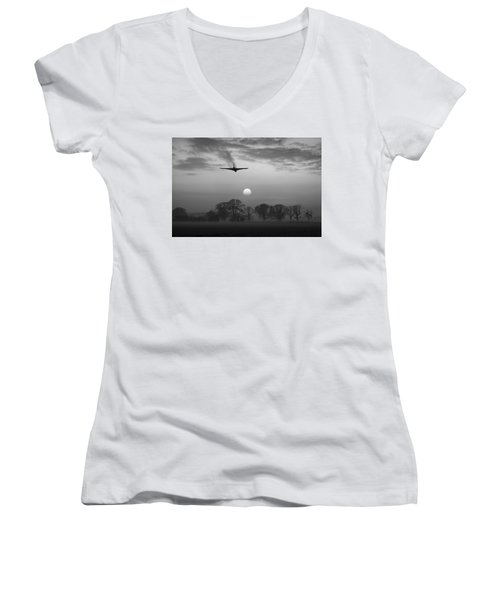 And Finally Black And White Version Women's V-Neck
