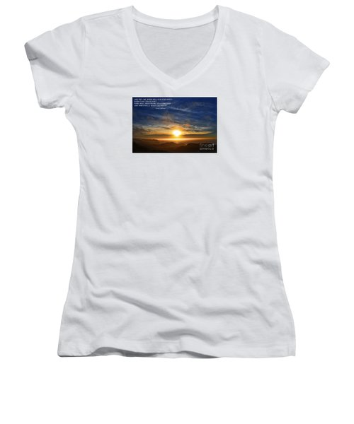 And When Will I Hold You Again Women's V-Neck (Athletic Fit)
