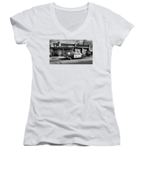 Andy Griffith And Mayberry Women's V-Neck (Athletic Fit)