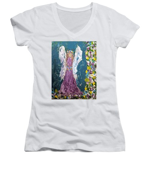 Angel Diva Women's V-Neck
