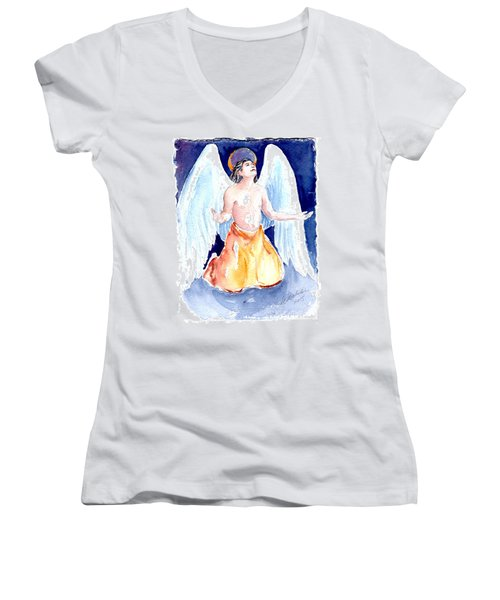 Angel Of Gratitude Women's V-Neck