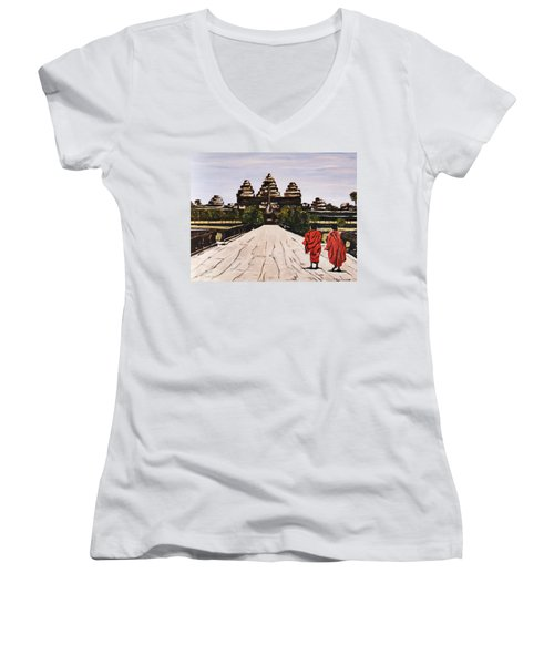 Angkor Wat Women's V-Neck T-Shirt