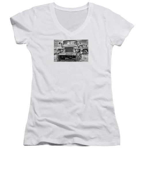 Angry Grandpa Women's V-Neck T-Shirt (Junior Cut) by Tgchan