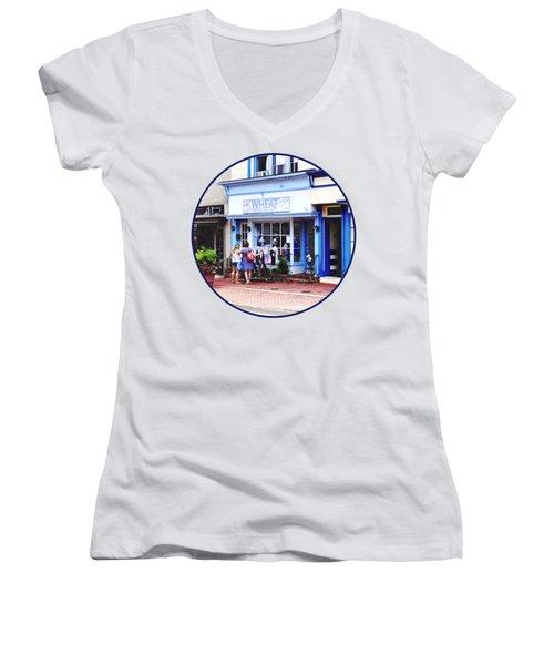 Annapolis Md - Shopping On Main Street Women's V-Neck