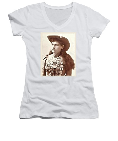 Annie Oakley 1 Women's V-Neck