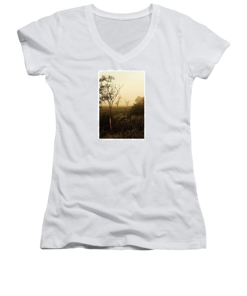 Another Morning  #autumn #morning Women's V-Neck