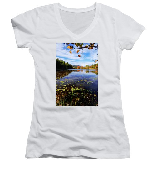 Women's V-Neck T-Shirt (Junior Cut) featuring the photograph Anticipation by Chad Dutson