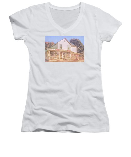 Antique Store, Colonial Beach Virginia Women's V-Neck T-Shirt