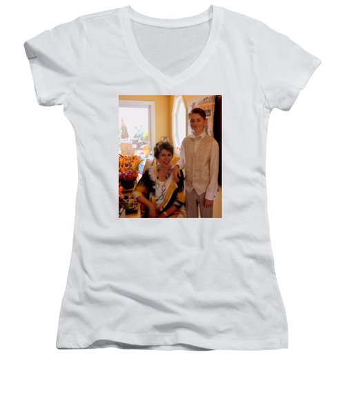Antonia And Grandson Women's V-Neck T-Shirt