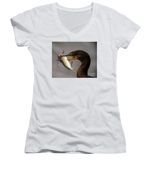 Anyone For Catfish? Women's V-Neck (Athletic Fit)