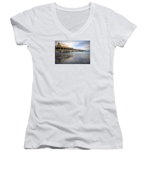 Apache Pier Women's V-Neck T-Shirt (Junior Cut) by Shelia Kempf