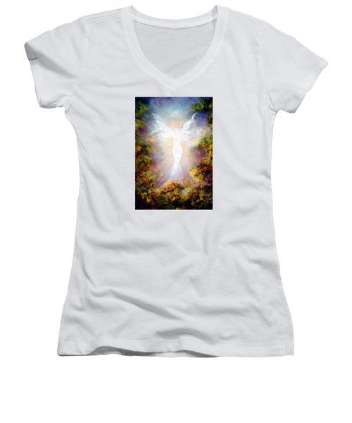 Apparition II Women's V-Neck T-Shirt (Junior Cut) by Marina Petro