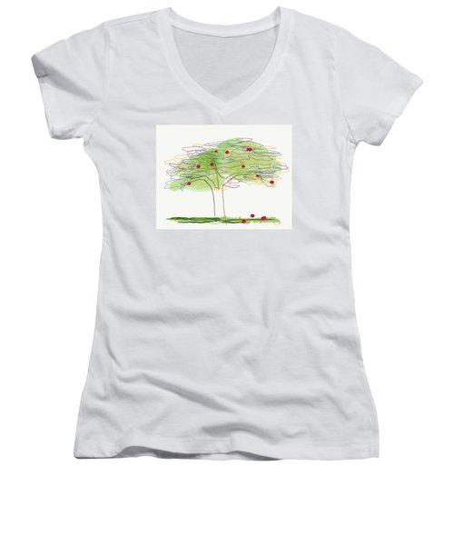 Apple Tree  Women's V-Neck