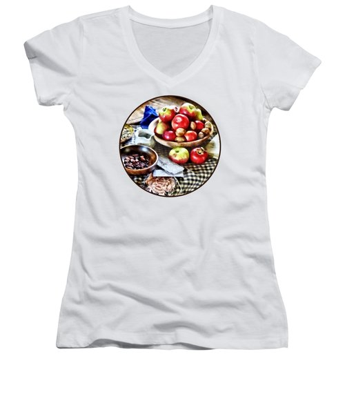 Apples And Nuts Women's V-Neck T-Shirt