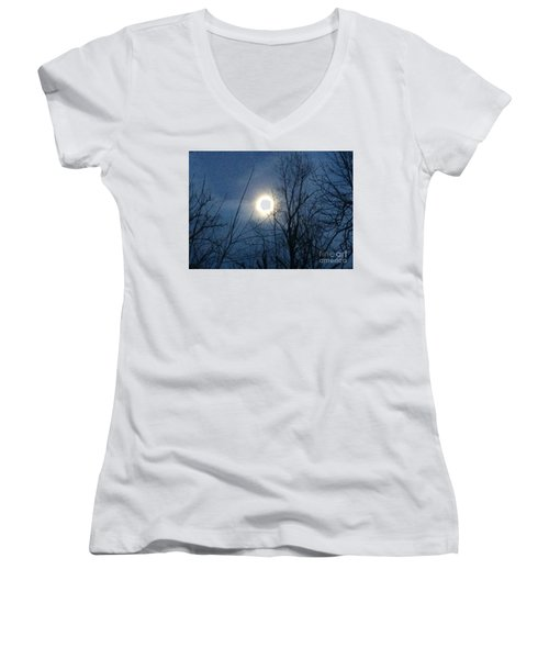 April Moonlight Women's V-Neck T-Shirt