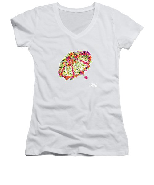 April Showers Bring May Flowers Women's V-Neck (Athletic Fit)
