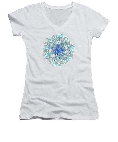 Aqua Art By Kaye Menner Women's V-Neck