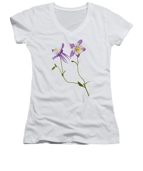 Aquilegia Specimen Women's V-Neck (Athletic Fit)
