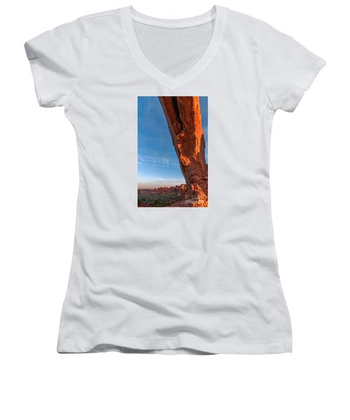 Arch View Women's V-Neck T-Shirt