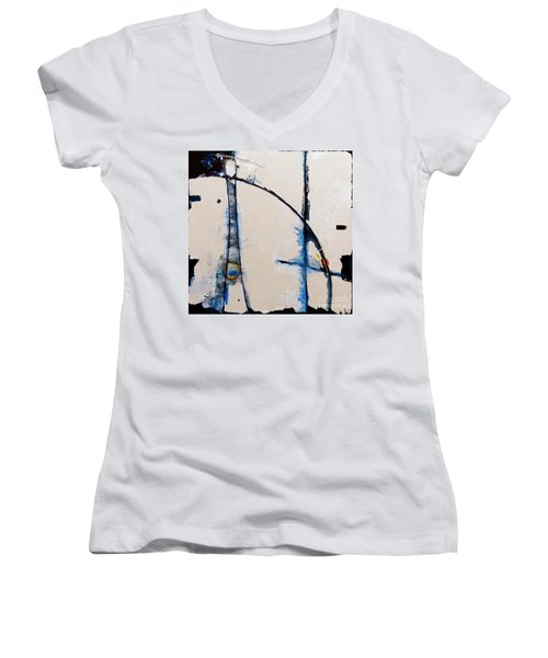 Arches To The Clouds Women's V-Neck T-Shirt (Junior Cut) by Gallery Messina