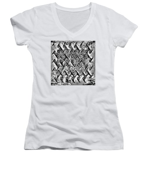 Are There Diamonds In Your Mine Women's V-Neck T-Shirt (Junior Cut) by Danica Radman