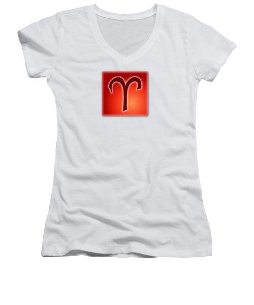Aries  March 20 - April 19 Women's V-Neck T-Shirt