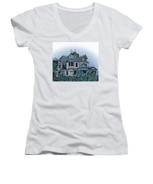 Aristocrat 2 Women's V-Neck T-Shirt (Junior Cut) by Megan Dirsa-DuBois