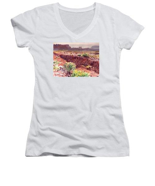 Arizona Arroyo Women's V-Neck T-Shirt (Junior Cut) by Donald Maier