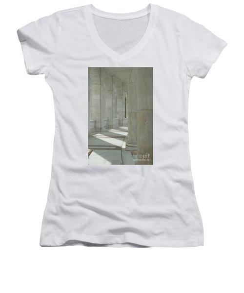Arlington Memorial Amphitheater Hall Women's V-Neck T-Shirt