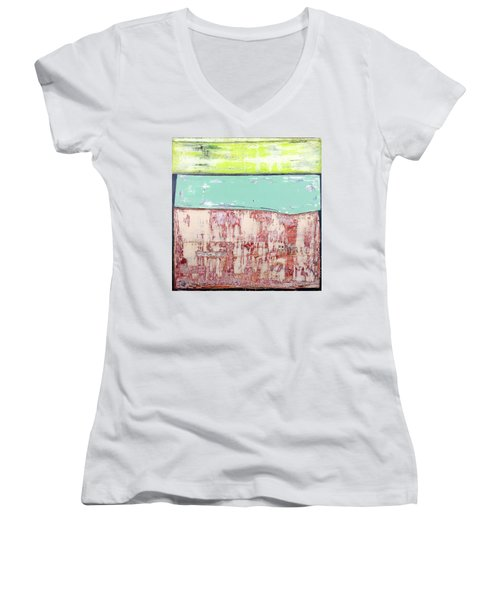Art Print Abstract 19 Women's V-Neck (Athletic Fit)