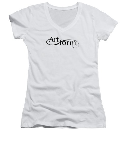 Women's V-Neck T-Shirt (Junior Cut) featuring the drawing Artform by Arthur Fix