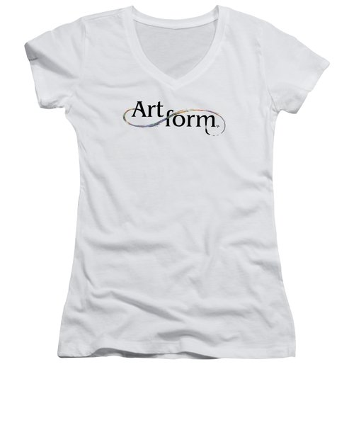 Women's V-Neck T-Shirt (Junior Cut) featuring the drawing Artform02 by Arthur Fix