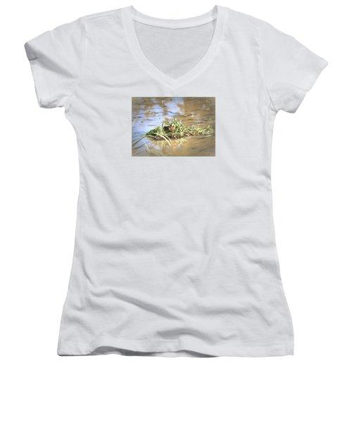 Artistic Lifeguard Women's V-Neck T-Shirt